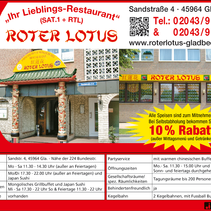 Anzeige Roter Lotus
